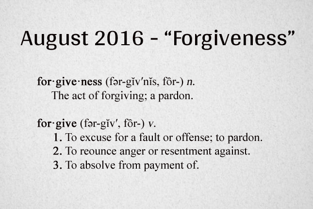 Forgiveness Definition