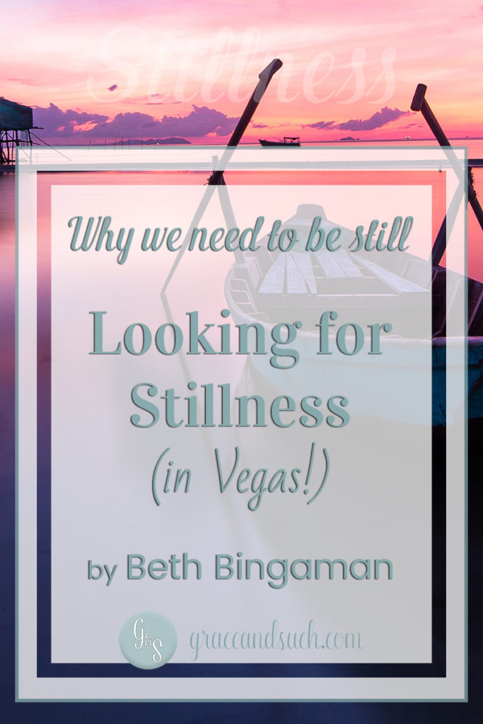 Why we need to be still